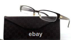 RARE New Authentic GUCCI Brown Gold GG Logo EyeGlasses Frame Glasses GG 4222 WM1