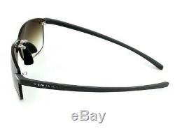 RARE New TAG Heuer Reflex Grey Brown Rimless Mirror Wrap Sunglasses TH 3592 204