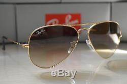 072ae105b02 Ray Ban Aviator Rb3025 Sunglsses Light Brown Gradient Lens