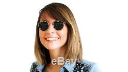 RAY BAN Sunglasses RB3447 001 ROUND METAL 50-21, Green Classic Lens, Gold Frame