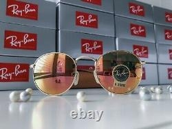 RAY BAN Sunglasses RB3447 ROUND METAL 50-21, GOLD Frame US