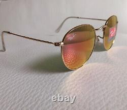 RAY BAN Sunglasses ROUND METAL 50-21, POLARIZED Classic Lens, GOLD Frame