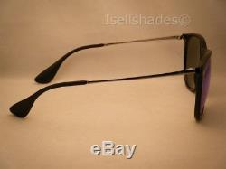 Ray Ban 4171 Erika Black w Blue Mirror Flash Lens NEW sunglasses (RB4171 601/55)
