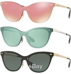 Ray-Ban Blaze Women's Brushed Metal Rimless Cat-Eye Sunglasses RB3580N