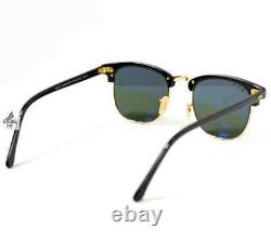Ray-Ban Clubmaster Classic POLARIZED Sunglasses RB3016 901/58 51mm Green Lens