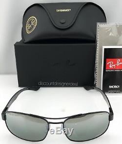 Ray-Ban Polarized Chromance Sunglasses RB8318CH 002/5L Black Frame Grey Mirror