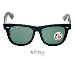 Ray Ban RB2140 901/58 Original Wayfarer Black/ Polarized Green G-15 54mm