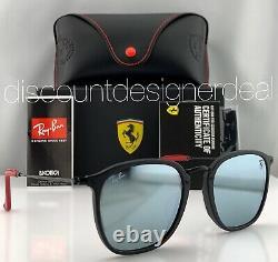 Ray-Ban RB2448M Ferrari Sunglasses F614/30 Matte Black Silver Mirror Lenses 53mm