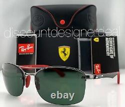 Ray-Ban RB3617M Ferrari Sunglasses F00171 Gunmetal Frame Classic Green G-15 Lens