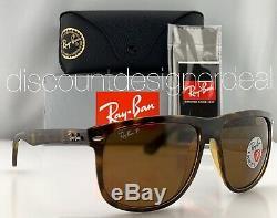 Ray-Ban RB4147 Sunglasses 710/57 Brown Tortoise Brown Polarized B-15 Lens 60mm