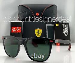 Ray-Ban RB4297M Ferrari Sunglasses F602/71 Matte Black Classic Green Lens 51mm