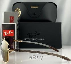 Ray-Ban RB8322CH 001/A3 Sunglasses Gold Frame Gold Mirror Polarized Carbon 62mm