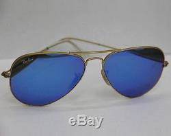 Ray-Ban Sunglasses 3025 112/17 Aviator BLUE Mirror Gold Frame NEW & 100%Original