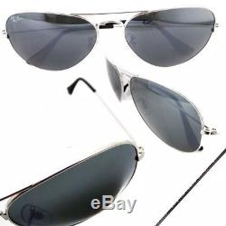 Ray-Ban Sunglasses Aviator 3025 W3277 Silver Grey Mirror Medium 58mm