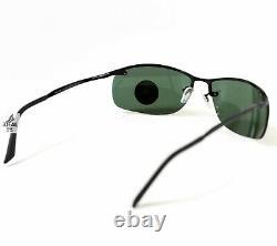 Ray-Ban Top Bar Polarized Sunglasses RB3183 002/9A 63mm Green Lens Black Frame