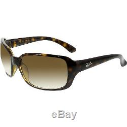 Ray-Ban Women's Gradient RB4068 RB4068-710/51-60 Brown Rectangle Sunglasses