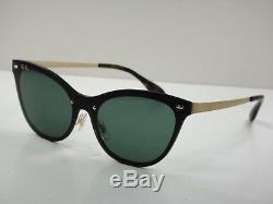 Ray-ban Women Blaze Cat Eye Sunglasses Rb3580n 043/71 Gold/green Lens 43mm