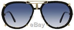 Roberto Cavalli Aviator Sunglasses RC1046S Chiana 32W Pale Gold/Black 1046
