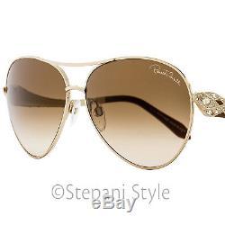 Roberto Cavalli Aviator Sunglasses RC920S-A Muphird 29F Gold/Dark Brown 920