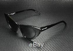 SAINT LAURENT YSL 213 Lily 001 Cat Eye Black Shiny Grey 52 mm Women's Sunglasses