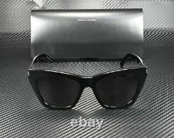 SAINT LAURENT YSL 214 Kate 001 Cat Eye Black Grey 55 mm Women's Sunglasses