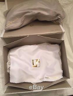 SALE! LINDA FARROW X JEREMY SCOTT RARE HANDS FRAME BRAND NEW Color Metallic Gold