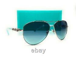 TIFFANY TF3049B 60019S Silver Blue Gradient Women's Sunglasses 58 mm