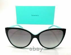TIFFANY TF4089B 80553C Black Blue Women's Cat Eye Sunglasses 58 mm