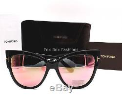 be137697a738 Tom Ford Ft 0371 01z Anoushka Sunglasses Black Pink Gold Mirror Flash New