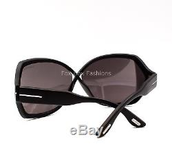 TOM FORD TF 427 02A Julianne Modern Butterfly Sunglasses Matte Black New