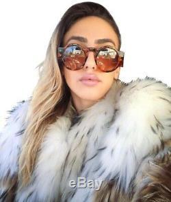 TOM FORD Tatiana 02 TF603 TF 603 55E BROWN HAVANA RETRO Round Women Sunglasses