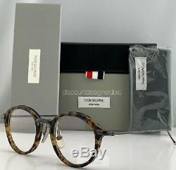 Thom Browne Eyeglasses Tokyo Tortoise Black Iron TB-011B Eyeglasses Small 46