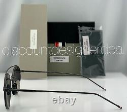 Thom Browne Round Sunglasses TB-101-C-T-BLK Matte Black Frame Dark Gray Lens 49