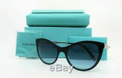 Tiffany & Co. TF 4159 8274/9S New Black & Clear Blue Cat Eye Caliber Sunglasses