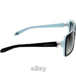 Tiffany & Co Women's Gradient TF4047B-80553C-55 Black Rectangle Sunglasses
