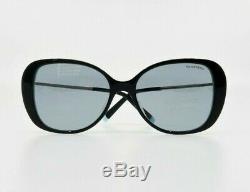 Tiffany & Co. Women's Rectangular Black Sunglasses with Case TF 4156 8055/1 55mm