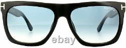 Tom Ford FT0513 01W Shiny Black Morgan Square Sunglasses Lens Category 2 Size 5