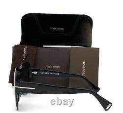 Tom Ford FT0664 01C Shiny Black / Smoke Mirror 55mm Sunglasses TF0664