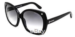 Tom Ford Gabriella FT0362 01B Shiny Black Frame / Smoke Grey Gradient Lenses