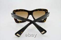 Tom Ford Hutton-02 Havana & Gold Women Sunglasses, New withBox TF 664 52F 55mm