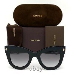 Tom Ford KARINA FT0612 01B Black / Gray 47mm Sunglasses TF0612