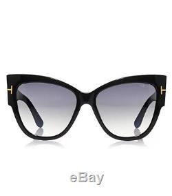 97a992dec6f38 Tom Ford Tf 371 F 01b Anoushka Black Gold Smoke Grey Sunglasses Women Cat  Italy