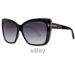 78d8aa16784 Tom Ford Tf 390 s 01b Irina Ft0390 Black Gold Greysmoke Lens Women Sunglass  Case