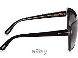 Tom Ford TF 390/S 01B IRINA FT0390 Black Gold GreySmoke Lens Women Sunglass Case