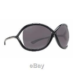 Tom Ford Whitney TF 9 199 Black/Smoke Women's Oversized Soft Round Sunglasses