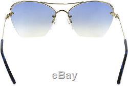 Tom Ford Women's Annabel FT0507-28W-58 Gold Semi-Rimless Sunglasses