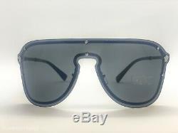 VERSACE MEDUSA MADNESS Sunglasses VE 2180 1000 87 Silver Black Gray 44mm 100087