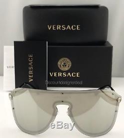 VERSACE MEDUSA MADNESS VE2180 Sunglasses Light Grey Silver Mirror 1000/6G