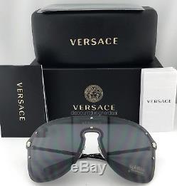 VERSACE MEDUSA MADNESS VE2180 Sunglasses Silver Black Gray 1000/87