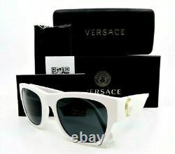VERSACE MOD. 4359 401/87 White & White Gold Medallion New Unisex Sunglasses wBox